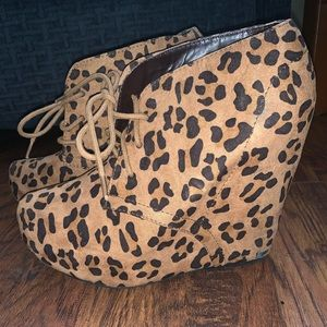 Shi by JOURNEYS Cheetah Print Suede Booties